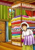 Princess and the Pea - The princesses castles - knights and fairies - Beautiful Manga Girl - illustration for the children Stock Images