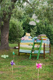 The Princess and the pea wedding decorations Royalty Free Stock Photography