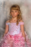 Princess in a pink dress Royalty Free Stock Image