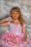 Princess in a pink dress Royalty Free Stock Photography