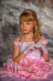 Princess in a pink dress Stock Images