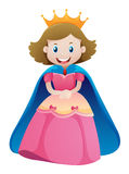 Princess in pink dress. Illustration vector illustration