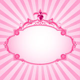 Princess pink frame Royalty Free Stock Image