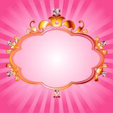 Princess pink frame. Lovely princess pink frame. Perfect for beautiful girls Stock Images