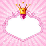 Princess pink frame Royalty Free Stock Photos