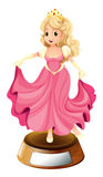 A princess with a pink gown Stock Image