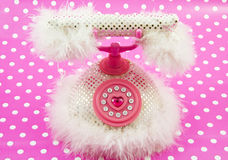 Princess pink royal phone Royalty Free Stock Image
