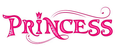 Princess. Pink title. Princess pink title. Design element for girls Royalty Free Stock Images