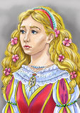 Princess. Portrait of the princess from the fairytails stock illustration