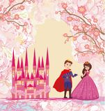 The princess and the prince - abstract card. The princess and the prince , Vector Illustration Stock Images