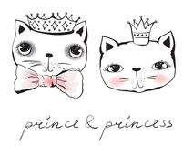 Princess and prince cats Stock Photography