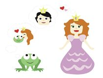 Princess and prince Royalty Free Stock Photography