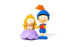 Princess and prince on white Royalty Free Stock Photography