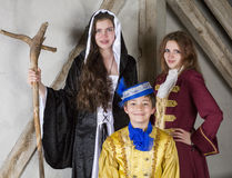 Princess,prince and witch Royalty Free Stock Photography