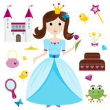 Princess and princess items Royalty Free Stock Image
