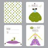 Princess przyjęcie set karty Obrazy Royalty Free