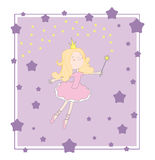 Princess purple card Royalty Free Stock Images