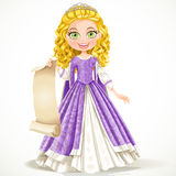 Princess in purple dress Royalty Free Stock Image