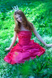 Princess in red dress Royalty Free Stock Images