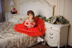 Princess in red dress Stock Photo