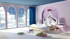 Princess room Stock Image