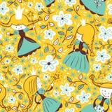 Princess seamless stock illustration