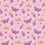 Princess seamless pattern Stock Photo