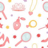 Princess seamless pattern Royalty Free Stock Photos