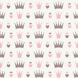 Princess Seamless Pattern Background Royalty Free Stock Photos