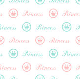 Princess Seamless Pattern Background Stock Photo