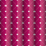 Princess Seamless Pattern Background Vector Royalty Free Stock Photography