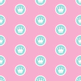 Princess Seamless Pattern Background Vector Illustration Stock Image