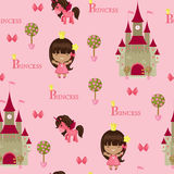 Princess seamless pattern Royalty Free Stock Photo