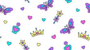 Princess seamless pattern Royalty Free Stock Photos