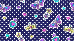 Princess seamless pattern Royalty Free Stock Photography