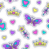 Princess seamless pattern Stock Images