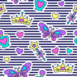 Princess seamless pattern Royalty Free Stock Images