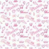 Princess seamless pattern. Stock Image