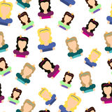 Princess seamless pattern. Seamless background for textile. Stock Photo