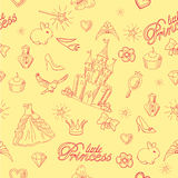 Princess seamless pattern. Royalty Free Stock Photos
