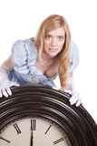 Princess sees time Royalty Free Stock Photo
