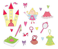 Princess set Royalty Free Stock Image