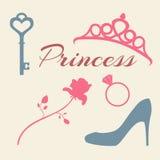 Princess. set of flat icons Stock Images