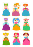 Princess Set. Pink Colors Isolated Royalty Free Stock Images