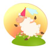 Princess of sheep Stock Image