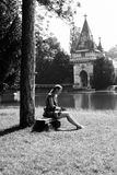 The Princess. This shot was made this summer, in Laxenburg, near Laxenburg Castle of the Habsburg dynasty, a beautifull and quiet place Stock Photos