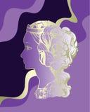 Princess silhouette Stock Image