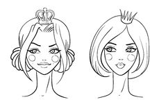 Princess. Sketches style Stock Image