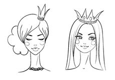 Princess. Sketches style Stock Photography