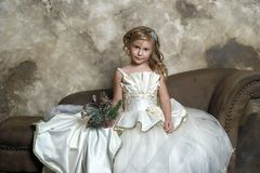 princess in a smart white dress in christmas stock photos